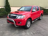 USED 2015 15 TOYOTA HI-LUX 3.0 INVINCIBLE 4X4 D-4D DCB 1d AUTO 169 BHP LEATHER, SAT NAV, CRUISE CTRL, AUTO, NEVER TOWED