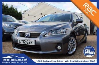 2012 LEXUS CT 1.8 200H SE-L PREMIER 5d 136 BHP £12750.00