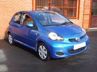 USED 2010 10 TOYOTA AYGO 1.0 VVT-I BLUE 5d 2 OWNERS - FSH - IDEAL 1ST CAR