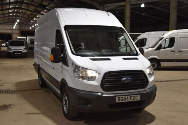 2014 64 FORD TRANSIT 2.2 350 H/R P/V 5d 125 BHP RWD LWB JUMBO L4H3 DIESEL PANEL MANUAL VAN ONE OWNER S/H LOW MILEAGE VAN