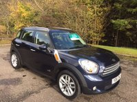USED 2011 61 MINI MINI COUNTRYMAN 1.6 COOPER D ALL4 5d 4x4 Chilli+Media Pack 6 MONTHS PARTS+ LABOUR WARRANTY+AA COVER