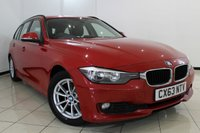 USED 2013 63 BMW 3 SERIES 2.0 320D EFFICIENTDYNAMICS BUSINESS TOURING 5DR AUTOMATIC 161 BHP FULL BMW SERVICE HISTORY + HEATED LEATHER SEATS + SAT NAVIGATION + PARKING SENSOR + BLUETOOTH + CRUISE CONTROL + MULTI FUNCTION WHEEL + 16 INCH ALLOY WHEELS