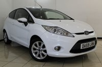 USED 2010 59 FORD FIESTA 1.4 ZETEC 16V 3DR 96 BHP SERVICE HISTORY + AIR CONDITIONING + BLUETOOTH + MULTI FUNCTION WHEEL + AUXILIARY PORT + 16 INCH ALLOY WHEELS