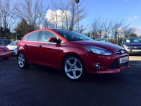 2011 FORD FOCUS 1.6 TDCI TITANIUM  115 5d IN CANDY RED METALLIC £6000.00