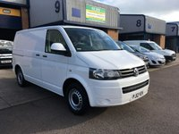 USED 2012 12 VOLKSWAGEN TRANSPORTER 2.0 T28 TDI BLUEMOTION TECHNOLOGY 1d 84 BHP NEW VW CAMBELT & WATERPUMP FITTED, FSH, A/C, SAT NAV, P/SENSORS, FINANCE ARRANGED & 6 MONTH WARRANTY. FSH, A/C, Bluetooth, Sat Nav, parking sensors, cruise control, Radio/CD, Drivers airbag, Factory fitted bulk head, Side loading door, Ply-lined. WHITE, Very Good Condition, 1 Owner, remote Central Locking, Drivers Airbag, CD Player/FM Radio, Steering Column Radio Control, Side Loading Door, Wood Lined, Barn Rear Doors,
