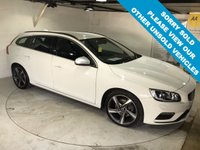 USED 2015 15 VOLVO V60 2.0 D4 R-DESIGN NAV 5d 178 BHP Only £20 a year road tax, Full service history,       Still under Volvo warranty,       Heated front seats,       Bluetooth,       Satellite Navigation,    R-Design steering wheel and upholstery,    Rear parking sensors