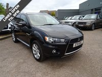 USED 2011 11 MITSUBISHI OUTLANDER 2.2 DI-D JURO 5d 156 BHP 1 previous keeper who have maintained a service book with 6 service stamps & an MOT dated till July 2018 this vehicle is a fantastic buy.In Amethyst Black with contrasting Black Sports Leather trim with double White stitching Packed with loads of extras such as: air conditioning, high and low range gearbox, cruise control, traction control, folding door mirrors and a multi-function steering wheel. With the stunning Mitsubishi looks benefiting from Multi spoke alloys and Aluminium roof bars