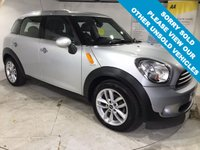 USED 2013 13 MINI COUNTRYMAN 1.6 COOPER D 5d 112 BHP Only £30 a year road tax,    Full service history,    Part-leather upholstery,    Sport mode,    Rear parking sensors
