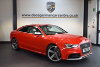 USED 2013 13 AUDI A5 4.2 RS5 FSI QUATTRO 2DR AUTO 444 BHP + FULL GREY LEATHER INTERIOR + FULL AUDI SERVICE HISTORY + SATELLITE NAVIGATION + BLUETOOTH + ELECTRIC SPORT SEATS + DAB RADIO + XENON LIGHTS + REVERSE CAMERA + CRUISE CONTROL + BANG AND OLUFSEN SPEAKERS + PARKING SENSORS + 20 INCH ALLOY WHEELS +
