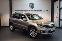 USED 2013 62 VOLKSWAGEN TIGUAN 2.0 SE TDI BLUEMOTION TECHNOLOGY 5DR 138 BHP + FULL VW SERVICE HISTORY + SATELLITE NAVIGATION + BLUETOOTH + AUXILIARY PORT + HEATED MIRRORS + PARKING SENSORS + 17 INCH ALLOY WHEELS +