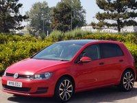 2016 VOLKSWAGEN GOLF 1.2 S TSI 5d 103 BHP £10995.00