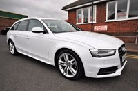 USED 2014 14 AUDI A4 2.0 AVANT TDI S LINE START/STOP 5d 148 BHP 1 OWNER + 6 SERVICES