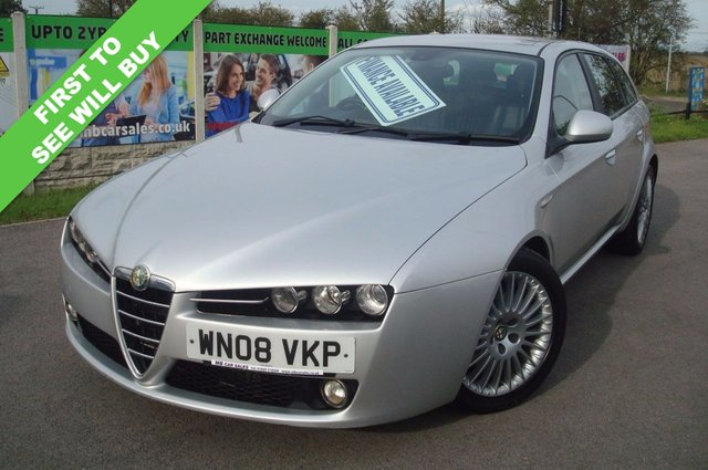 2008 08 ALFA ROMEO 159 1.9 JTDM 16V LUSSO SPORTWAGON 5d 150 BHP FULL LEATHER