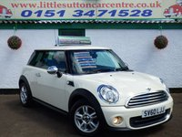 USED 2010 60 MINI HATCH ONE 1.6 ONE 3d 98 BHP PEPPER PACK PEPPER PACK, OVER £2500 OF EXTRAS, 12 MONTHS MOT, FINANCE AVAILABLE