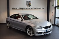 USED 2014 14 BMW 4 SERIES 2.0 420D M SPORT 2DR 181 BHP + FULL RED LEATHER INTERIOR + 1 OWNER FROM NEW + BUSINESS SATELLITE NAVIGATION + BLUETOOTH + REVERSE CAMERA + BMW SERVICE HISTORY + XENON LIGHTS + HEATED SPORT SEATS + CRUISE CONTROL + PARKING SENSORS + 18 INCH ALLOY WHEELS +