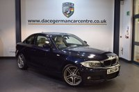 USED 2013 62 BMW 1 SERIES 2.0 120D SPORT PLUS EDITION 2DR 175 BHP + FULL CREAM LEATHER INTERIOR + FULL BMW SERVICE HISTORY + BUSINESS SATELLITE NAVIGATION + BLUETOOTH + HEATED SPORT SEATS + XENON LIGHTS + CRUISE CONTROL + PARKING SENSORS + 18 INCH ALLOY WHEELS +