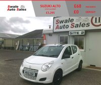 USED 2012 12 SUZUKI ALTO 1.0 SZ 5d 68 BHP £21 PER WEEK OVER 4 YEARS, SEE FINANCE LIKE BELOW