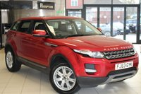 USED 2014 63 LAND ROVER RANGE ROVER EVOQUE 2.2 ED4 PURE TECH 5d 150 BHP FULL BLACK LEATHER SEATS + FULL SERVICE HISTORY + PANORAMIC ROOF + SAT NAV + BLUETOOTH + HEATED FRONT SEATS + 18 INCH ALLOYS + CRUISE CONTROL
