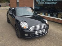 2011 MINI CONVERTIBLE 1.6 COOPER D 2d 112 BHP IN BLACK WITH HALF BLACK LEATHER. £6990.00