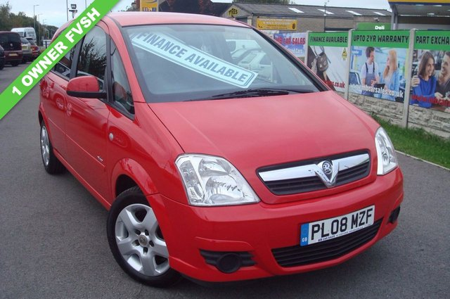 2008 08 VAUXHALL MERIVA 1.4 BREEZE 16V 5d 90 BHP 1 OWNER FROM NEW FMDSH