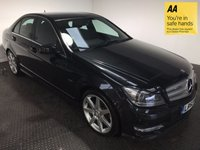 USED 2012 62 MERCEDES-BENZ C CLASS 2.1 C250 CDI BLUEEFFICIENCY SPORT 4d AUTO 202 BHP HISTORY-LEATHER-BLUETOOTH-NAV