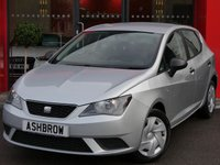 USED 2013 13 SEAT IBIZA 1.2 S A/C 5d 70 BHP MANUAL 5 SPEED GEARBOX, COLOUR CODED EXTERIOR, GREY CLOTH INTERIOR, AIR CONDITIONING, DIS TRIP COMPUTER, CD HIFI, AUX INPUT, STEERING COLUMN REMOTE CONTROLS, PREP FOR SEAT PORTABLE SAT NAV UNITS, AIRBAGS WITH PASSENGER OFF FUNCTION, ELECTRIC WINDOWS, ISO FIX, FOLDING REAR SEATS, 3x 3 POINT REAR SEAT BELTS.  FULL SERVICE HISTORY, HPI CLEAR.