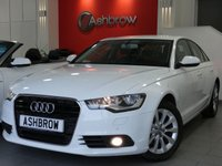 USED 2014 64 AUDI A6 SALOON 2.0 TDI ULTRA SE 4d 190 S/S AT NAV, DAB RADIO, BLUETOOTH PHONE & MUSIC STREAMING, FRONT & REAR PARKING SENSORS WITH DISPLAY, 17 INCH 10 SPOKE ALLOYS, FULL BLACK LEATHER INTERIOR, LEATHER MULTI FUNCTION STEERING WHEEL, LIGHT & RAIN SENSORS WITH AUTO DIMMING REAR VIEW MIRROR, CRUISE CONTROL, AUTO HILL HOLD, DUAL CLIMATE AIR CON, CD HIFI WITH 2x SD CARD READERS, AUX INPUT,  OWNER FROM NEW, AUDI SERVICE HISTORY, £30 ROAD TAX (117 G/KM), VAT QUALIFYING
