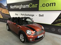 2013 MINI CONVERTIBLE 1.6 ONE 2d 98 BHP £7495.00