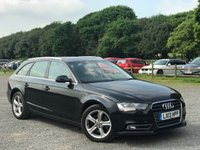 USED 2013 13 AUDI A4 2.0 AVANT TDI SE TECHNIK 5d AUTO 141 BHP SATELLITE NAVAGATION,FULL BLACK LEATHER INTERIOR,ALLOYS,BLUE-TOOTH,FRONT AND REAR PARKING AID,AUDI MULTIMEDIA,CLIMATE CONTROL