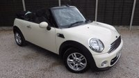 USED 2013 63 MINI CONVERTIBLE 1.6 COOPER D 2dr 1 Owner, FMSH, £20/yr Tax