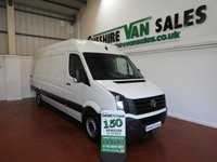 2017 VOLKSWAGEN CRAFTER 2.0 CR35 TDI  BMT 140 BHP LWB 4 IN STOCK £16495.00