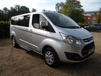 USED 2014 14 FORD TOURNEO CUSTOM 2.2 300 LIMITED TDCI 5d 124 BHP Full Leather Seats, 9 Seater. Bluetooth