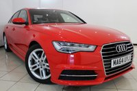 USED 2015 64 AUDI A6 2.0 TDI ULTRA S LINE 4DR 188 BHP HEATED LEATHER SEATS + SAT NAVIGATION + PARKING SENSOR + BLUETOOTH + CRUISE CONTROL + MULTI FUNCTION WHEEL + 18 INCH ALLOY WHEELS