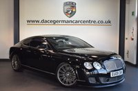 USED 2009 09 BENTLEY CONTINENTAL 6.0 GT SPEED 2DR AUTO 601 BHP + FULL BLACK LEATHER INTERIOR + FULL BENTLEY SERVICE HISTORY + SATELLITE NAVIGATION + HEATED SPORT SEATS WITH MEMORY + BLUETOOTH + REVERSE CAMERA + TV FUNCTION + CRUISE CONTROL + CRUISE CONTROL + PARKING SENSORS + 20 INCH ALLOY WHEELS +