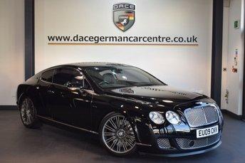 2009 BENTLEY CONTINENTAL 6.0 GT SPEED 2DR AUTO 601 BHP £42970.00