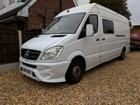USED 2012 12 MERCEDES-BENZ SPRINTER 2.1 313 CDI LWB 1d 129 BHP Beautiful Campervan Conversion Fantastic Camper Conversion. Perfect for Motorcross!
