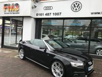 USED 2014 63 AUDI A5 2.0 Cabriolet TDI S LINE BLACK EDITION S/S 5d AUTO 177 BHP