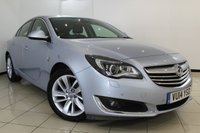 USED 2014 14 VAUXHALL INSIGNIA 2.0 ELITE NAV CDTI ECOFLEX S/S 5DR 138 BHP HEATED LEATHER SEATS + CLIMATE CONTROL + SAT NAVIGATION + PARKING SENSOR + CRUISE CONTROL + MULTI FUNCTION WHEEL + 18 INCH ALLOY WHEELS