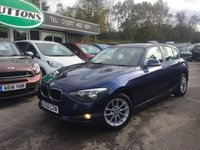 2012 BMW 1 SERIES 1.6 116D EFFICIENTDYNAMICS 5d 114 BHP £9489.00