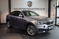 USED 2016 16 BMW X6 3.0 XDRIVE40D M SPORT 4DR 309 BHP + FULL BLACK LEATHER INTERIOR + FULL SERVICE HISTORY + PRO SATELLITE NAVIGATION + BLUETOOTH + HEATED SPORT SEATS WITH MEMORY + DAB RADIO + REVERSE CAMERA + CRUISE CONTROL + PARKING SENSORS + 19 INCH ALLOY WHEELS +