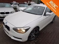USED 2013 62 BMW 1 SERIES 1.6 116D EFFICIENTDYNAMICS 5d 114 BHP 1 OWNER PERL WHITE