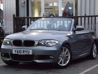 USED 2010 10 BMW 1 SERIES 2.0 120D M SPORT 2d 175 BHP FULL SERVICE HISTORY 6 STAMPS. CONVERTIBLE 174BHP 2.0 1 SERIES IN FANTASTIC CONDITION