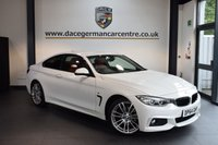 USED 2015 64 BMW 4 SERIES 2.0 420D M SPORT 2DR AUTO 181 BHP + FULL RED LEATHER INTERIOR + FULL SERVICE HISTORY + PRO SATELLITE NAVIGATION + BLUETOOTH + XENON LIGHTS + HEATED SPORT SEATS + DAB RADIO + CONNECTED DRIVE + CRUISE CONTROL + RAIN SENSORS + PARKING SENSORS + 18 INCH ALLOY WHEELS +