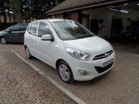 USED 2012 62 HYUNDAI I10 1.2 ACTIVE 5d 85 BHP £20 ROAD TAX, 2 OWNERS, 2 KEYS, USB AND AUX