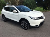 USED 2015 15 NISSAN QASHQAI 1.6 DCI TEKNA 5d 128 BHP TOP SPEC NEW SHAPE IN WHITE WITH BLACK LEATHER 35000 MILES