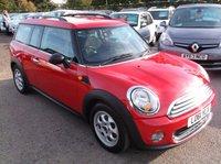 2011 MINI CLUBMAN 1.6 ONE 5d 98 BHP £6500.00