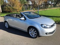 USED 2011 61 VOLKSWAGEN GOLF 1.6 S TDI BLUEMOTION TECHNOLOGY 2d 104 BHP ONE OWNER CONVERTIBLE WITH FSH ONLY £30 TO TAX 60PLUS MPG