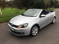 USED 2012 12 VOLKSWAGEN GOLF 2.0 SE TDI BLUEMOTION TECHNOLOGY 2d 139 BHP GOOD SPEC GOLF SE CONVERTIBLE WITH FSH AND ONLY £30 TAX AND SUPERB FUEL ECONOMY