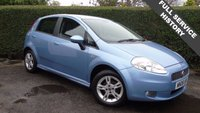 2008 FIAT GRANDE PUNTO 1.4 DYNAMIC SPORT 5d 77 BHP, IDEAL FIRST CA WITH FULL SERVICE HISTORY, FINISHED IN LIGHT BLUE METALLIC  £1995.00