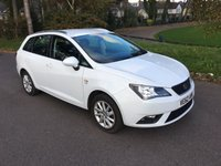 USED 2013 62 SEAT IBIZA 1.2 TSI SE DSG 5d AUTO 104 BHP RARE AUTOMATIC ESTATE IN WHITE WITH 1 OWNER AND FSH